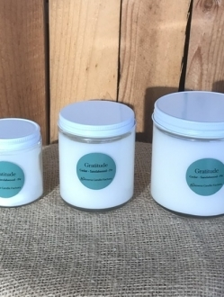 Soy Candle in Jar with White Lid Choose one of the 6 unique blends or 4 holiday blends – 2 sizes