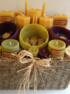Large Gift Basket – You choose the colors (doesn't have to be purple/green) request in notes!