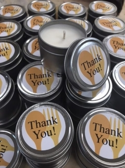 Custom Candles 12 candles per case, start by selecting Jars/Tins, create your own line!