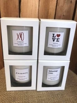 Love & Light Collection 10oz Jar Soy Candle in White Gift Box 5 Scents to Choose!