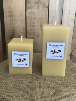 Square Beeswax Pillar Candle –  2 sizes