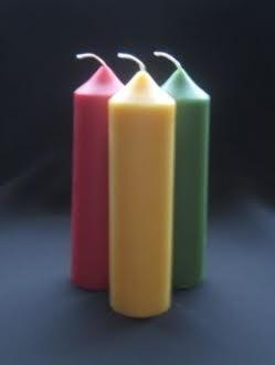 Beeswax 6″ x 1.5″ Pillar Candle – 1 unit (P6)