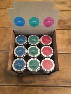 1.7oz Soy Tin Therapeutic Candles Case Karma-Gratitude-Love – 18 units