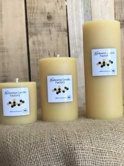 Beeswax Smooth Pillars