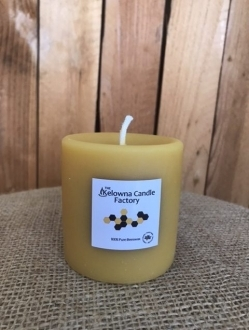 Natural Round Smooth Beeswax Pillars – 3 Sizes to Choose!