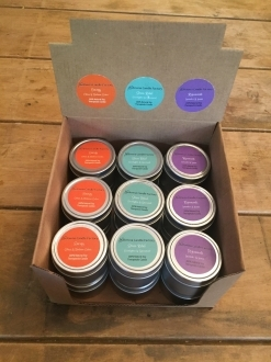 1.7oz Soy Tin Therapeutic Candles Case Energy-Stress Relief-Rejuvenate – 18 units