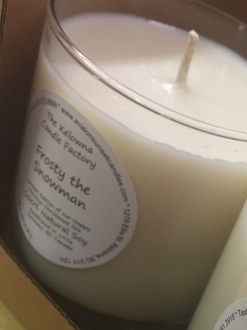 Frosty the Snowman Soy Candle – Ltd. Edition Happy Holidays Line!