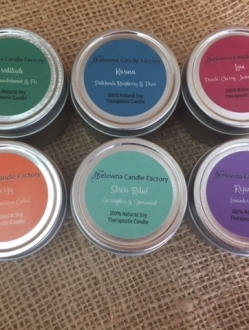 1.7oz Beeswax Tin Therapeutic Candles New Tin Samplers – all 6 scents!