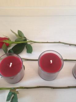 3 Pillar Jars – Red