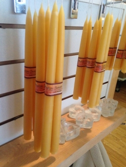 Beeswax 12″ tapers by the case – 24 units (T12)