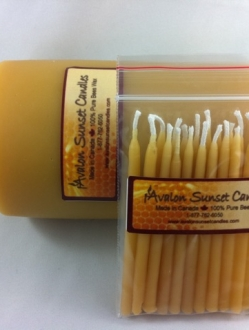 Beeswax Birthday Candles by the case – 12 packs (BC)