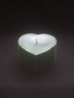 Beeswax 3″ x 4″ Heart Pillar Candle Case – 4 units (HP)