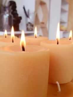 Beeswax 3″ x 3″ Pillar Candle Case – 8 units (P3)