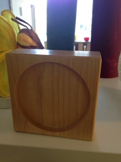 Square Wooden Candle Holder