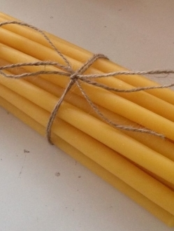 Beeswax 9″ Slim Tapers by the case or pairs!